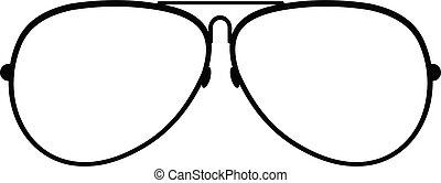 Eyewear icon, simple style.