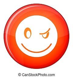 Eyewink emoticon, flat style