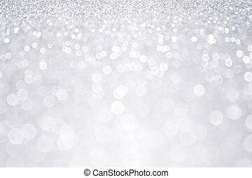 ezüst, fénylik, tél, karácsony, háttér