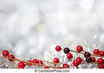 ezüst, karácsony, háttér