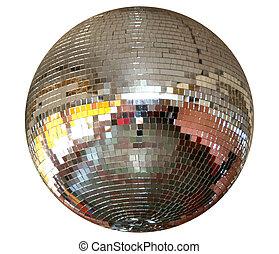 ezüst, világítás, mirror-ball