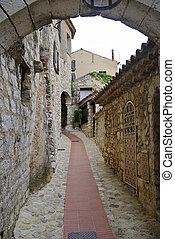 eze, strade, medievale
