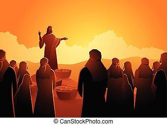 ezer, öt, etet, jézus