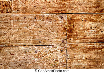 fából való, öreg, körmök, ajtó