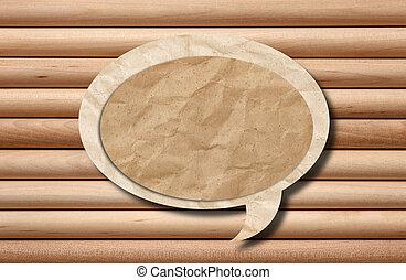 fából való, újra hasznosít, beszéd, háttér, buborék