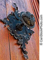 fából való, 2, ajtó, középkori, részletez