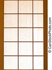 fából való, ablak, dolgozat, japán