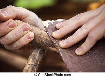fából való, berendezés, restaurálás