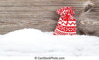 fából való, dekoráció, felett, karácsony, háttér