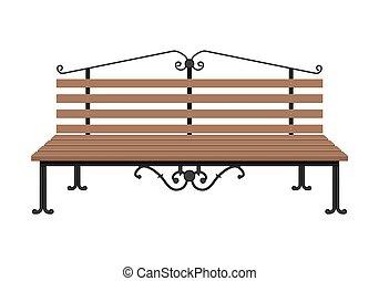 fából való, háttér., fehér, elszigetelt, bírói szék