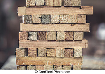 fából való, kazalba rakott, deszkák, háttér