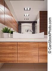 fából való, mód, fürdőszoba