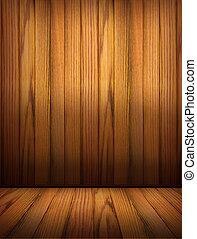 fából való, szoba, háttér, design.interior