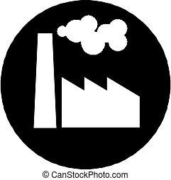 fábrica, ícone