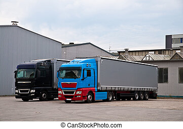Fábrica, caminhões