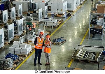 fábrica, inspección