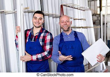fábrica, saliência, trabalhador