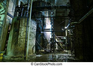 fábrica, viejo, abandonado