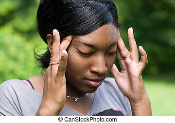 fájdalmas, fejfájás