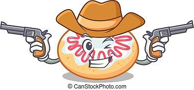 fánk, cowboy, betű, karikatúra, zselé