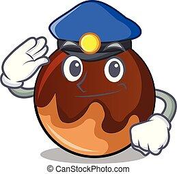 fánk, csokoládé, rendőrség, karikatúra, betű
