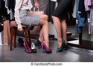 fárasztó, cipők, high-heeled
