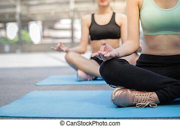 fárasztó, fogalom, gyakorló, külső, wellness, forrás,...