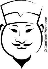 fárasztó, kalap, chinaman