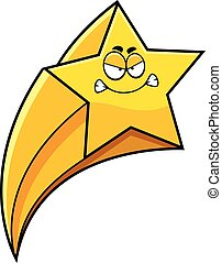 fâché, étoile filante, dessin animé