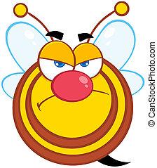 fâché, abeille