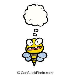 fâché, abeille, dessin animé