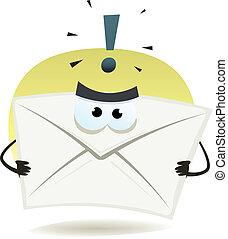 fâché, email, icône