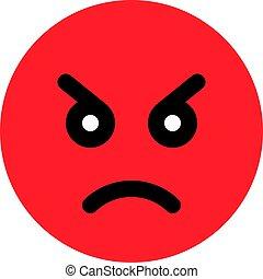 fâché, emoji