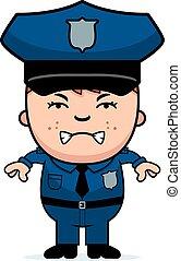 fâché, gendarme
