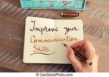 fähigkeiten, text, kommunikation, verbessern, dein,...