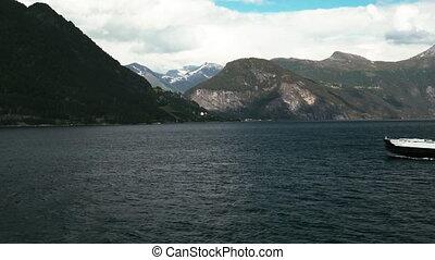 fähre, auf, fjord, norwegen
