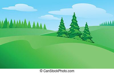 fält, landskap