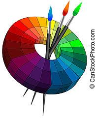 färben palette