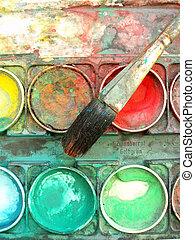 färben palette, kasten