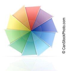 färben palette, vektor, abbildung