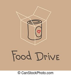 färd, vektor, mat, välgörenhet, rörelse, illustration