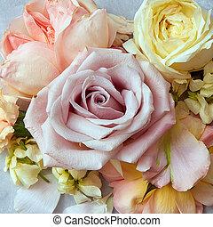 färg, Årgång, stil, Blomstrar, ro