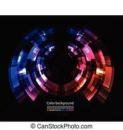 färg, abstrakt, bakgrund