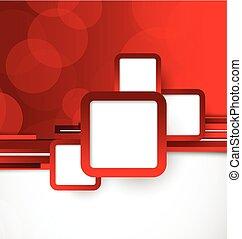 färg, abstrakt, bakgrund, röd