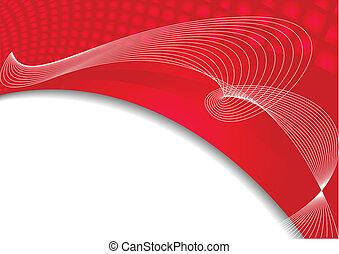 färg, abstrakt, vektor, röd fond