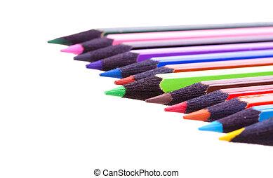 färg, blyertspenna