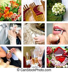 färg, bröllop, foto