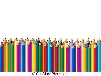 färg, crayons