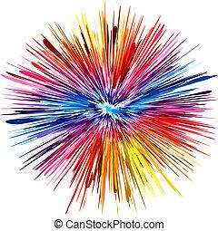 färg, explosion