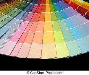 färg, fan